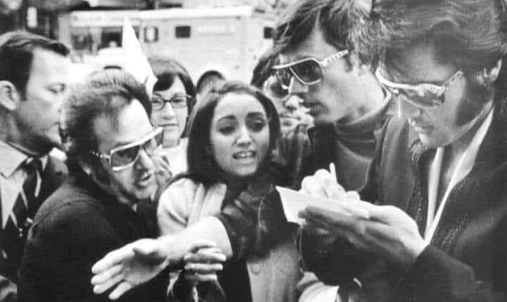 Madonna prays to Elvis for an autograph